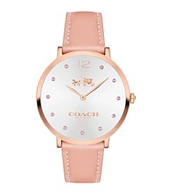 COACH SLIM EASTON BREAST CANCER AWARENESS SET LEATHER STRAP WATCH