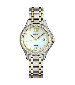Seiko® Women's Solar Two Tone With Swarovski Crystal Accents
