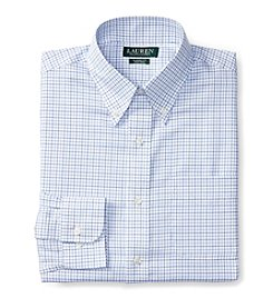 Lauren Ralph Lauren® Men's Long Sleeve Button Down Collar Grid Pattern Dress Shirt