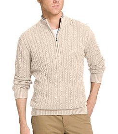 Izod® Men's Long Sleeve Cable Knit Quarter Zip Pullover