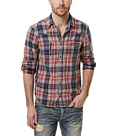 Buffalo by David Bitton Men's Siwell Long Sleeve Button Down Plaid Shirt