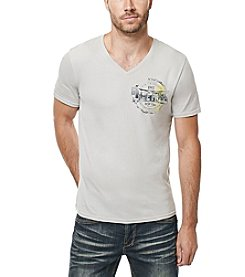 Buffalo by David Bitton Men's Naraw Short Sleeve Graphic V-Neck Tee