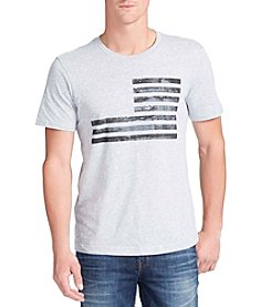 William Rast® Men's Short Sleeve Graphic Texture Flag Tee