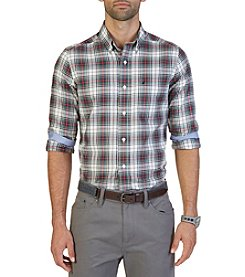 Nautica® Men's Big & Tall Long Sleeve Plaid Button Down Shirt