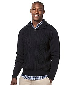Chaps® Men's Textured Mock Neck Sweater