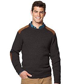 Chaps® Men's Suede Crew Neck Sweater