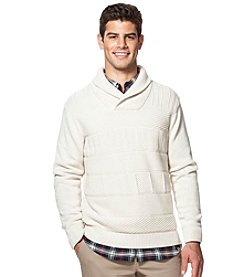 Chaps® Men's Textured Shawl Collar Sweater