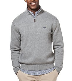 Chaps® Men's Solid 1/4 Zip Mockneck Sweater