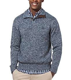 Chaps® Men's Twist Button Mockneck Sweater