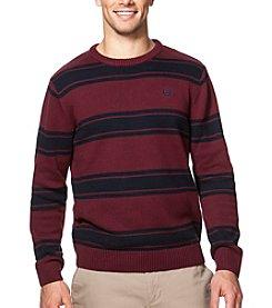 Chaps® Men's Cotton Crew Neck Striped Sweater