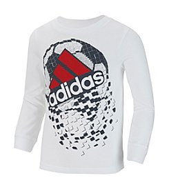 adidas® Boys' 2T-7 Long Sleeve Pixel Soccer Active Tee