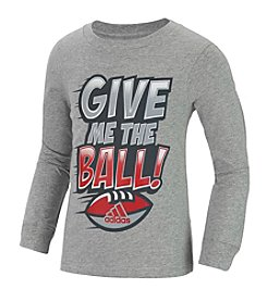 adidas® Boys' 2T-7 Long Sleeve Give Me The Ball Tee