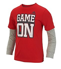 adidas® Boys' 2T-7 Long Sleeve Layered Game On Tee