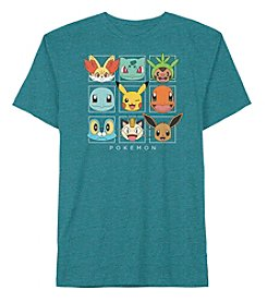 Pokemon® Boys' 8-20 Short Sleeve Pokemon Square Tee