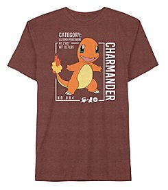Pokemon® Boys' 8-20 Short Sleeve Charmander Tee