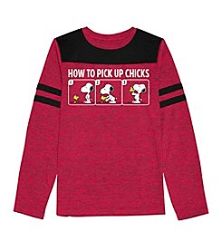 Peanuts® Boys' 8-20 Long Sleeve Pick Up Tee