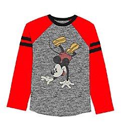 Disney® Boys' 8-20 Long Sleeve Mickey Mouse® Tee