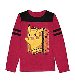 Pokemon® Boys' 8-20 Long Sleeve Pikachu Football Tee