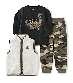 Kids Headquarters® Boys' 4-7 3-Piece Apatosaurus Vest Set