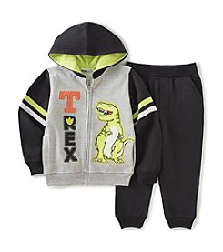 Kids Headquarters® Boys' 2T-7 2-Piece T-Rex Hoodie And Joggers Set