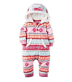 Carter's® Baby Girls' Hooded Fair Isle Jumpsuit