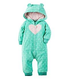 Carter's® Baby Girls' Hooded Heart Jumpsuit
