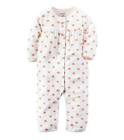 Carter's® Baby Girls' Heart Fleece Jumpsuit