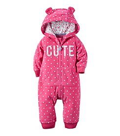 Carter's® Baby Girls' Hooded Cute Jumpsuit
