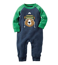 Carter's® Baby Boys' Bear Fleece Raglan Jumpsuit