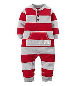 Carter's® Baby Boys Striped Fleece Jumpsuit