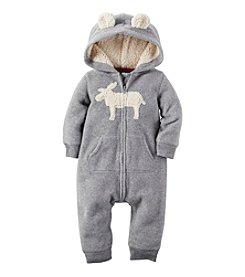 Carter's® Baby Boys' Hooded Moose Jumpsuit