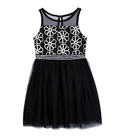 Amy Byer Girls' 7-16 Daisy Illusion Dress