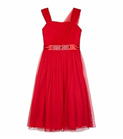 Amy Byer Girls' 7-16 Jewel Belted Midi Dress