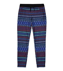 Amy Byer Girls' 7-16 Geo Knit Waistband Pants