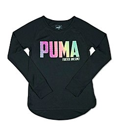 PUMA® Girls' 7-16 Long Sleeve Forever Awesome Tee
