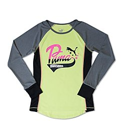 PUMA® Girls' 7-16 Long Sleeve Awesome Raglan Tee