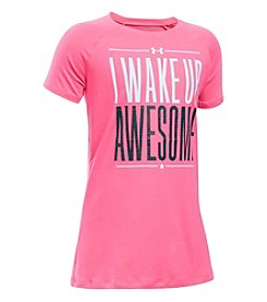 Under Armour® Girls' 7-16 Short Sleeve Wake Up Awesome Tee