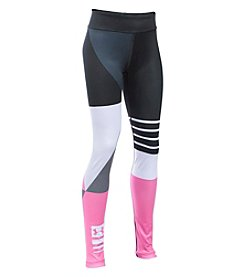 Under Armour® Girls' 7-16 Mix Master Stripe Logo Leggings