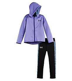 Under Armour® Girls' 2T-6X 2-Piece Chain Grid Hoodie And Leggings Set