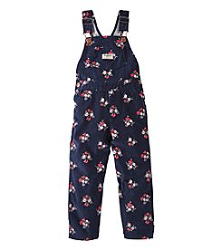 OshKosh B'Gosh® Girls' 2T-4T Floral Corduory Overalls
