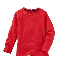 OshKosh B'Gosh® Girls' 2T-4T Long Sleeve Pointelle Tee