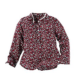 OshKosh B'Gosh® Girls' 2T-6X Long Sleeve Ditsy Floral Shirt