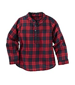 OshKosh B'Gosh® Girls' 2T-6X Long Sleeve Plaid Top
