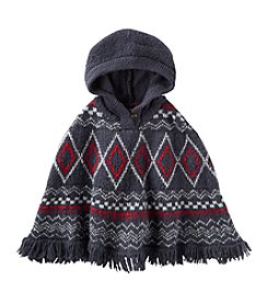 OshKosh B'Gosh® Girls' 2T-6X Hooded Geo Poncho