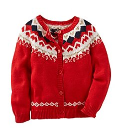OshKosh B'Gosh® Girls' 2T-6X Long Sleeve Heart Cardigan