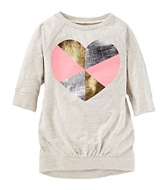 OshKosh B'Gosh® Girls' 2T-8 Long Sleeve Heart Tunic