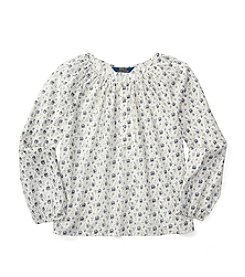 Polo Ralph Lauren® Girls' 7-16 Long Sleeve Floral Top