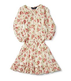Polo Ralph Lauren® Girls' 7-16 Long Sleeve Floral Dress