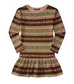 Polo Ralph Lauren® Girls' 7-16 Dropwaist Fairisle Dress