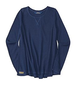 Polo Ralph Lauren® Girls' 7-16 Long Sleeve Waffle Top
